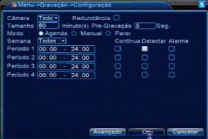 menu DVR Luxvision