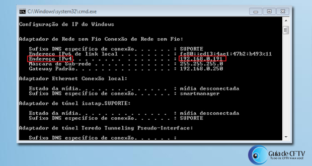 Comando IP config